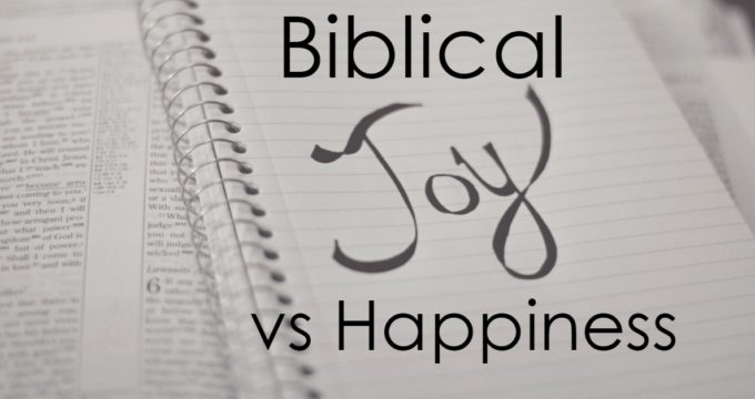 Do you know the difference between true, Biblical Joy and happiness? Our world has these things confused- and because of that, we struggle with true joy.