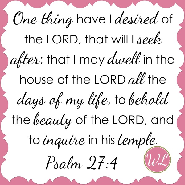 One of Mandy's life verses- and a verse she prays over Worshipful Living