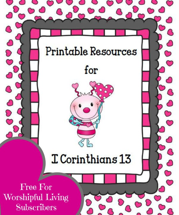 Printable Resources for 1 Corinthians 13