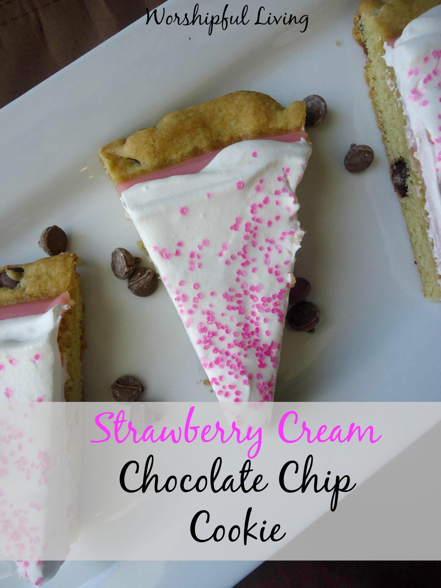 Strawberry Cream Chocolate Chip Cookie - Worshipful Living