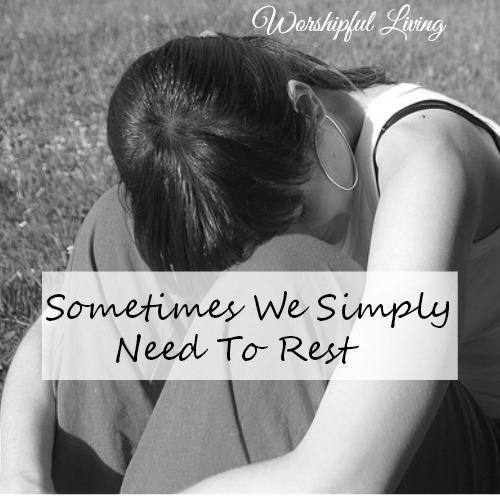 Sometimes God causes us to stop and rest even when we don't want to. Does this mean that He is done using us all together?