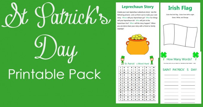 St Patrick's Day Printable Pack