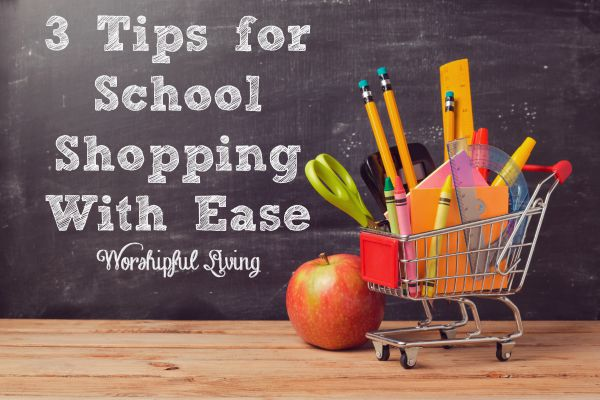 Try these three tips for back to school shopping with ease