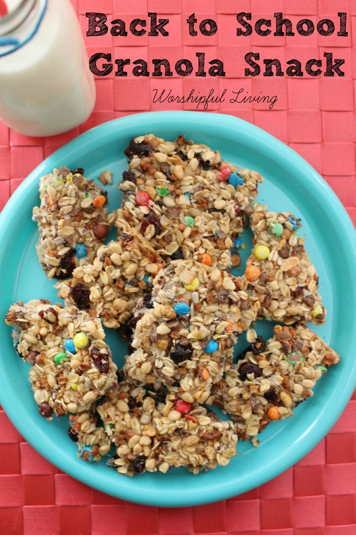 Looking for a great snack for back to school? This granola snack is sure to make a healthy choice!