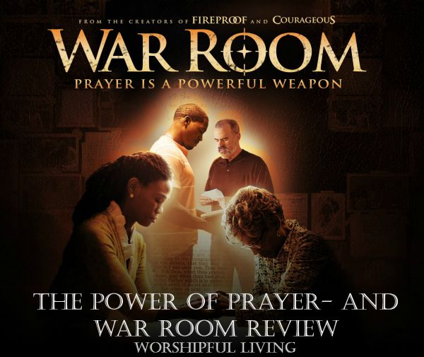 War Room is an amazing movie on the power of prayer. Go see it SOON!