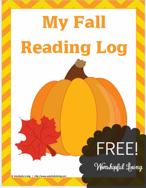 FREE Fall Reading Log