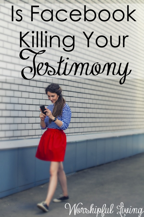 What are you posting on Facebook? If you are a Christian - it does matter- and it could be killing your testimony