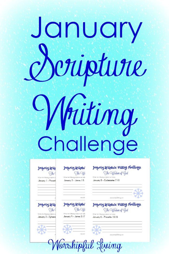 Writing Scripture can help calm your mind and your heart - and helps you focus on God. Come Join the Scripture Writing Challenge at Worshipful Living