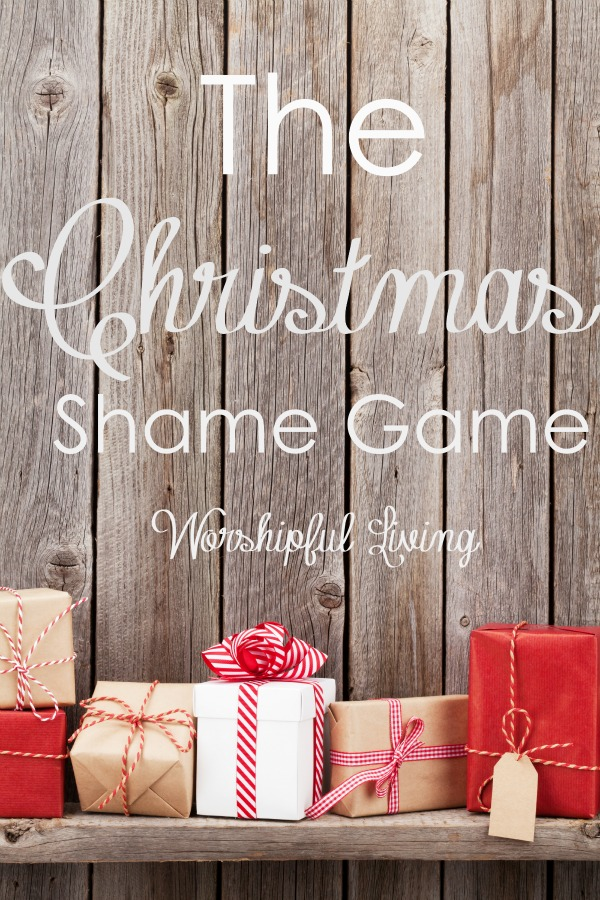 Are you playing the Christmas Shame Game? Have you been on the receiving end? Maybe both? Come find out more.