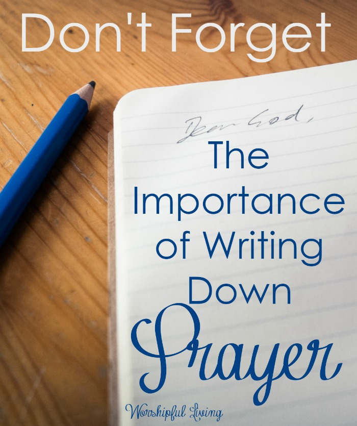 Prayer is powerful. We don't want to forget what we are suppose to pray for- or for what God has done in prayer! Write it down!
