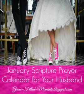 January Scripture Prayer Calendar for Your Husband