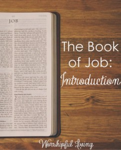 Suffering. Why does it happen? The Book of Job teaches much about this topic. Come join us!