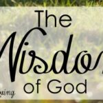 The Wisdom of God has been a big theme so far in 2016 - come and find out why it is so important!