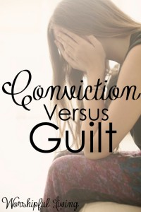 Do you struggle to know the difference between conviction and guilt- or is there a difference at all? I am here to tell you there is - and conviction is not guilt.