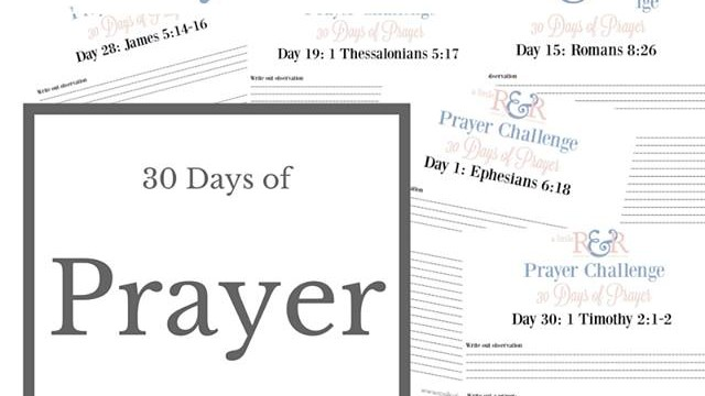 A 30-Day Prayer Challenge Free Printable