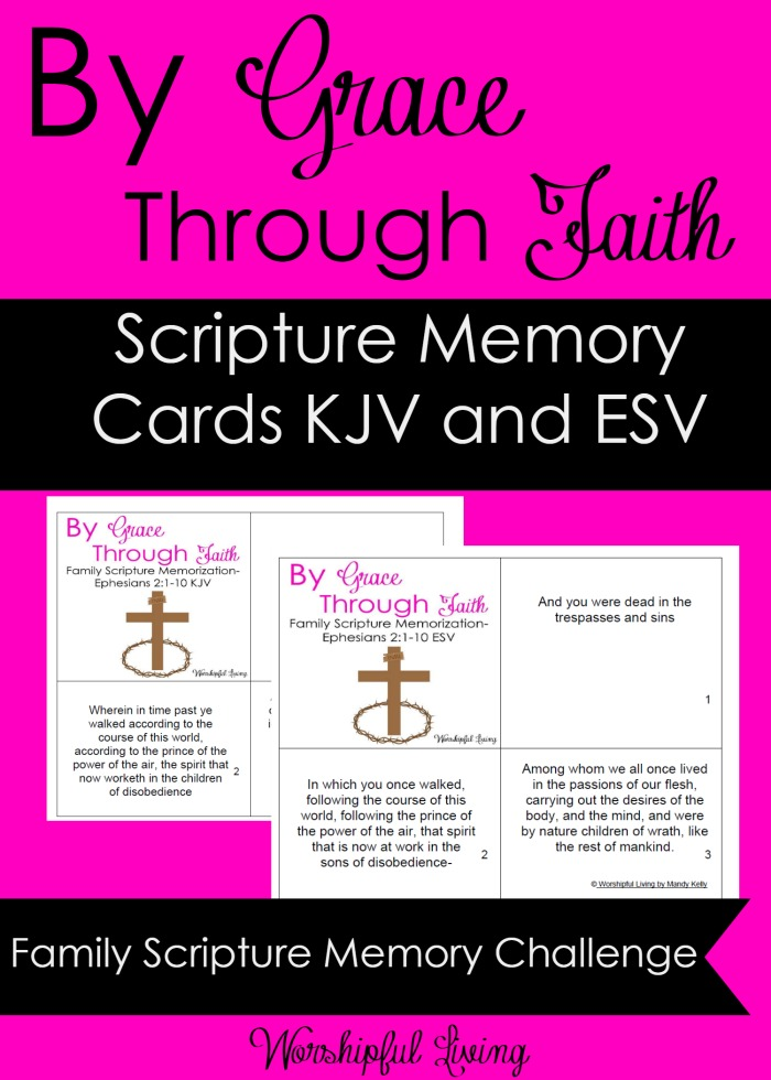 The April Family Scripture Memory Challenge is here! This month, we are going to focus on being saved by grace through faith! Help your family put these key verses in their hearts!
