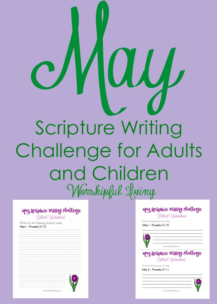 Spend this May digging into God's Word - writing it on the tables of your heart, and writing it in a journal as well! You can even use our printables!