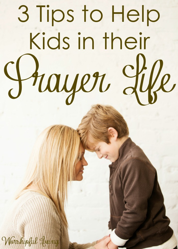 The health of our prayer life is vital to our relationship with God. It is important to help guide our children to have a healthy prayer life too!