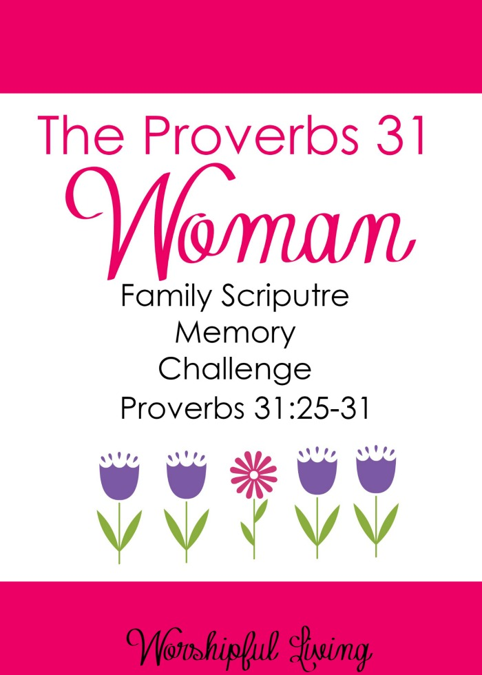 It is so important to hide God's Word in our hearts- and this memory challenge will be helpful for the whole family!