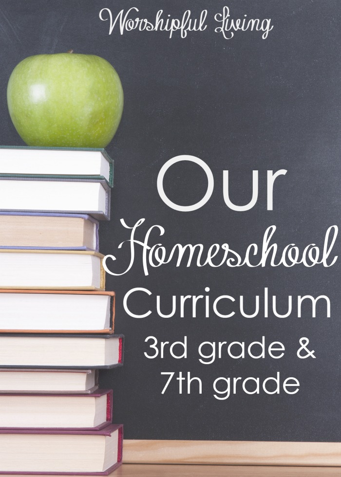 Choosing Homeschool Curriculum can be overwhelming- but we can do it together! Sharing the Homeschol Curriculum for my 3rd and 7th grader!