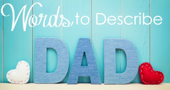 Father's Day is coming. What are the words you would use to describe your dad? What about your heavenly Father?