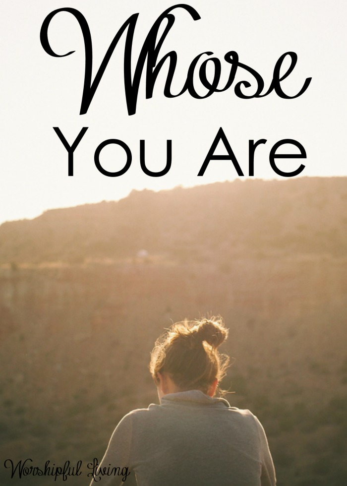 Our world is fast paced and everyone and everything is coming at us - faster than we can keep up with. In the midst of it all, remember whose you are!