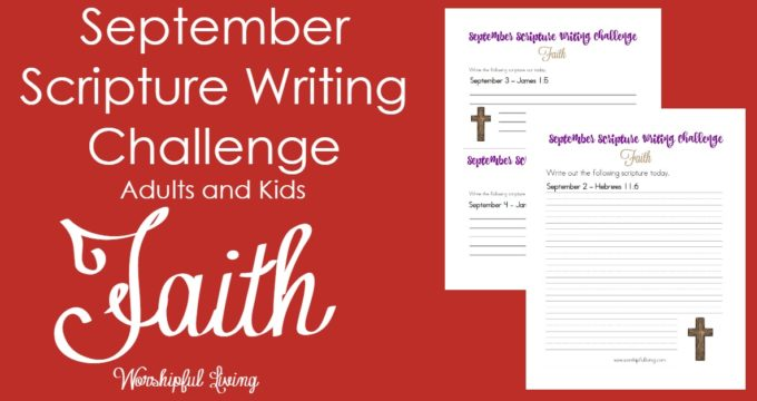 September Writing Challenge: Faith