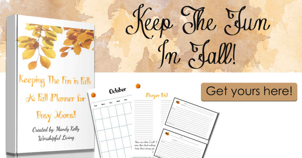 Fall is a busy time! Keep your fall in order with this fall management binder! Every year, pull out your binder and have everything you need in one place for all the busyness of fall! Calendars, recipe cards, to-do list, and much more!