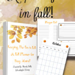 Are you looking to keep your fall organized? The amount of to do list can be overwhelming. Keep your fall organized this year and every year with our fall management binder.
