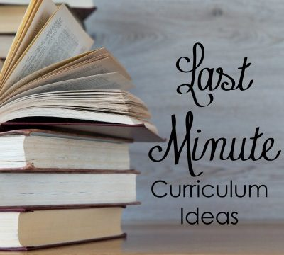 5 Last Minute Curriculum Ideas
