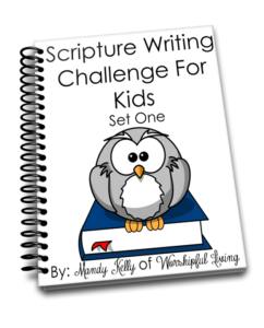 Scripture Writing Challenge for Kids set 1