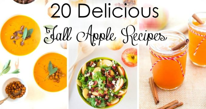 Fall is here! It is time to bring out all the yummy apple recipes we have been waiting to have all summer! Here are 20 of my favorite recipes to fill your apple craving!