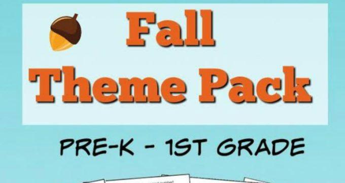 Fall Learning Pack (Preschool-1st Grade)