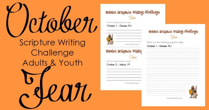 Fear: October Scripture Writing Challenge