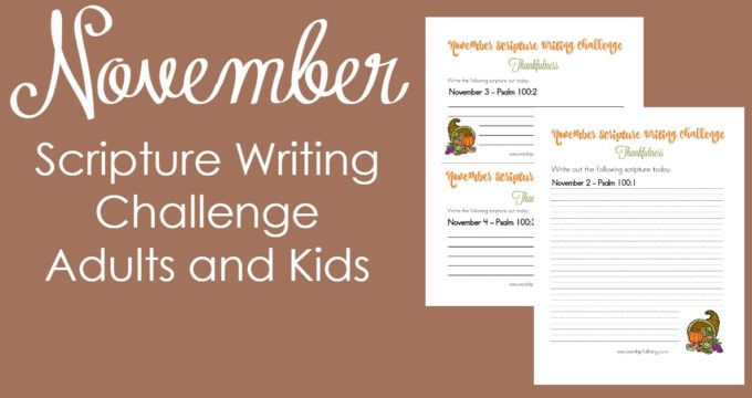 Thankfulness: November Scripture Writing Challenge