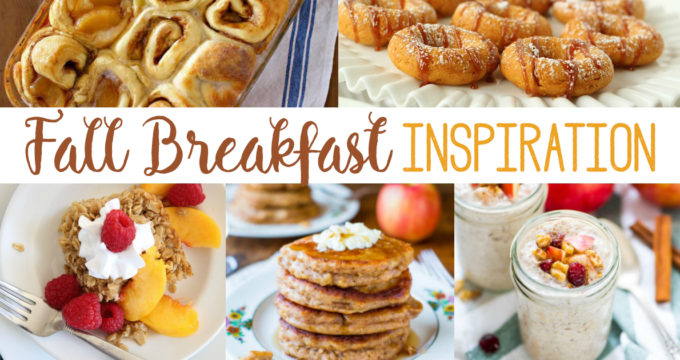 Looking for something new for breakfast this fall? This post is full of great fall breakfast inspiration - good for Thanksgiving Day or anytime!