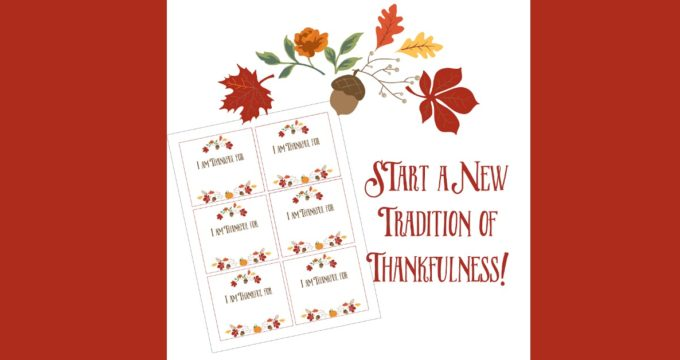 "Looking for a new tradition for your family? Don't have time for Pinterest crafts? ""I am thankful"" cards-a simple and easy family tradition!"