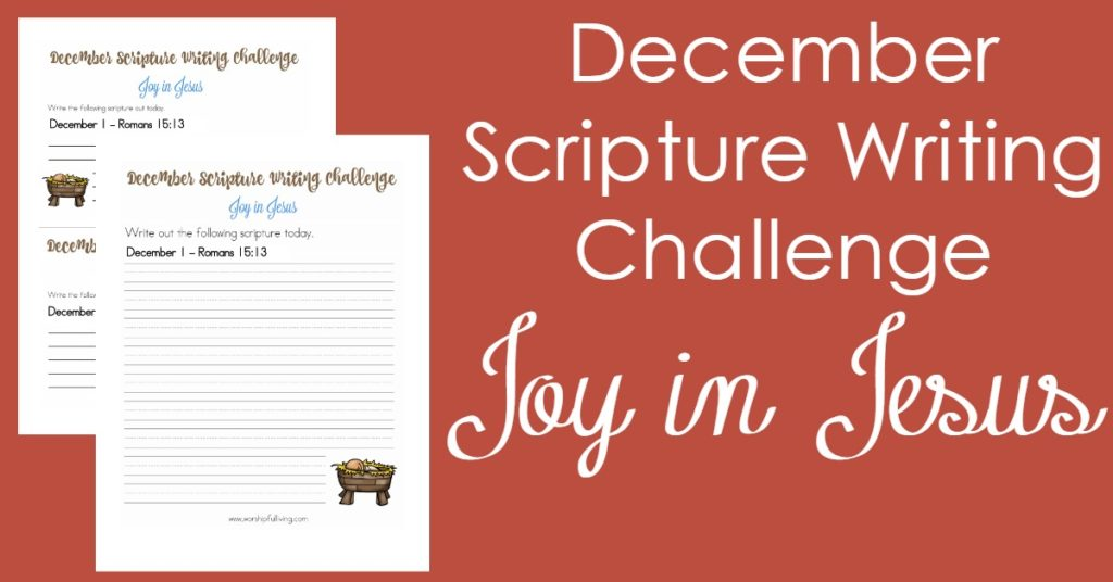 This Christmas, find your joy in Jesus by joining us for this scripture writing challenge! We will focus on the Joy Jesus brings!