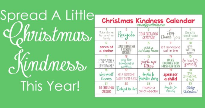Are you looking for some ways to spread a little Christmas Kindness this year? This calendar will help you be intentional with the kindness your spread!