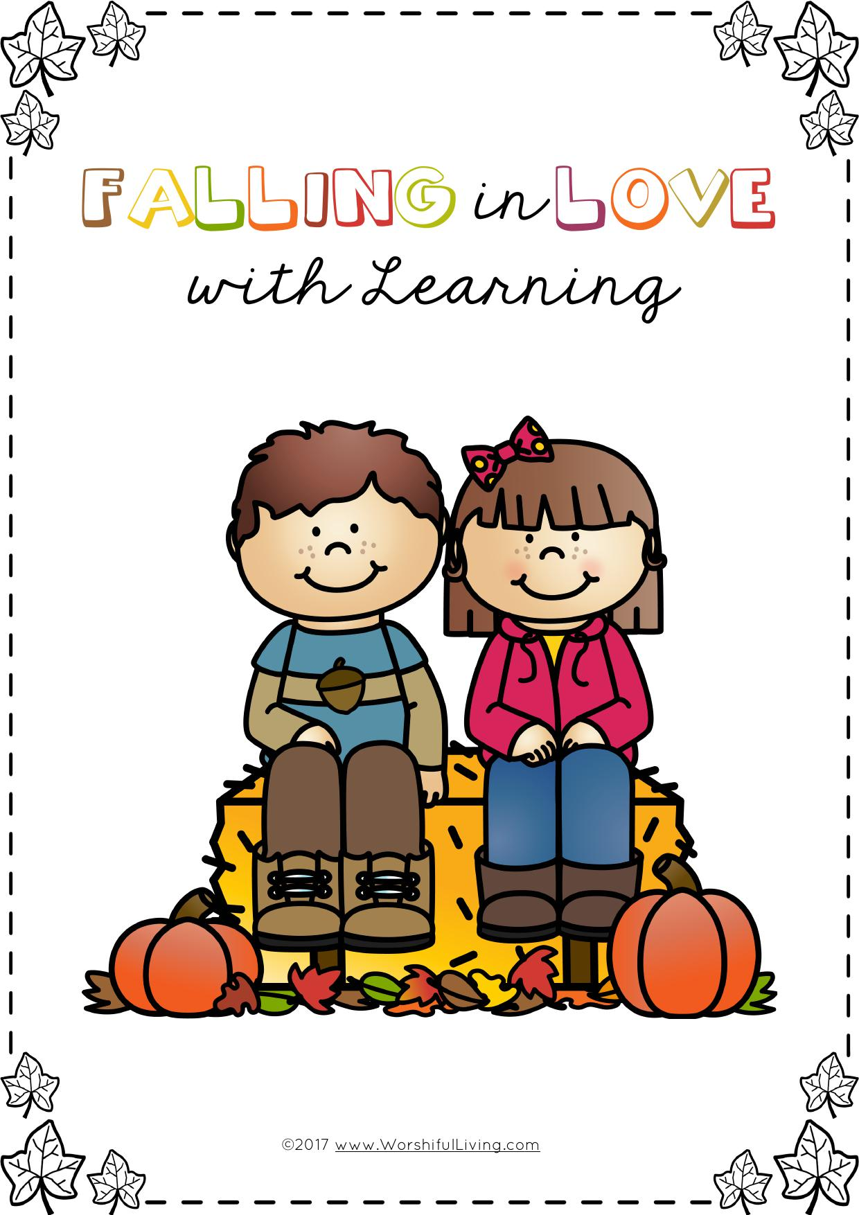 Falling in love with learning is a Fall Thematic Unit study that covers many different subject areas while taking a break from traditional curriculum!