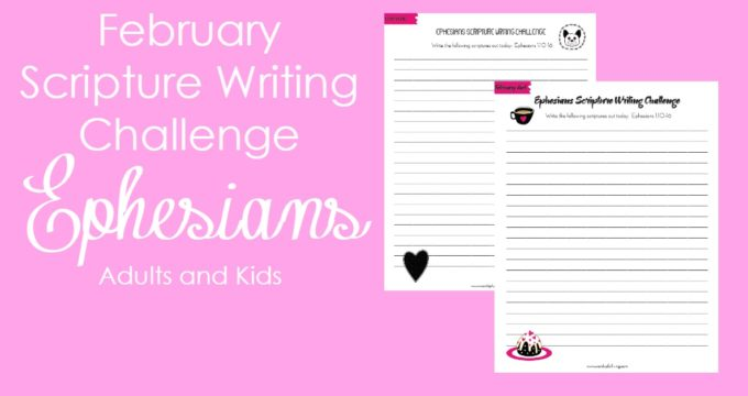 Ephesians Scripture Writing Challenge for the Whole Family! Dig into Ephesians with us and let's go deeper in our faith!