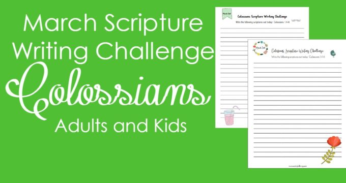 Colossians Scripture Writing Challenge: March 2017