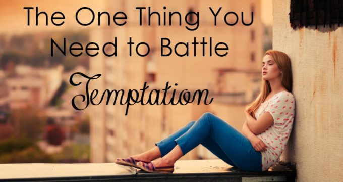 Temptation. We all deal with it - but not all of us deal with it well. There is one thing we need to battle temptation - and we can win the battle within.